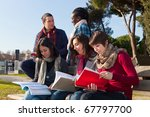 college students studying... | Shutterstock . vector #67797700