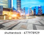 city square and modern... | Shutterstock . vector #677978929