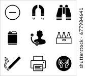set of 9 miscellaneous icons... | Shutterstock .eps vector #677984641