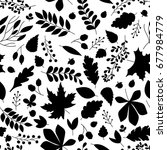 seamless autumn pattern with... | Shutterstock .eps vector #677984779
