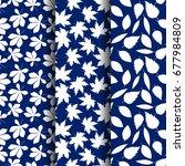 set of  seamless autumn pattern ...   Shutterstock .eps vector #677984809