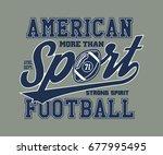 american football stylized... | Shutterstock .eps vector #677995495