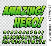 comic alphabet set. letters ... | Shutterstock .eps vector #677996437
