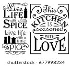 a set of wall decal quotes for... | Shutterstock .eps vector #677998234