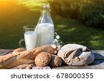 farmers food products  milk ... | Shutterstock . vector #678000355