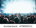 crowd at concert. stage lights... | Shutterstock . vector #678000511