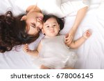 happy loving family. mom and... | Shutterstock . vector #678006145
