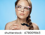 woman with accessories for a... | Shutterstock . vector #678009865