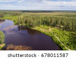 aerial view of river among the...   Shutterstock . vector #678011587