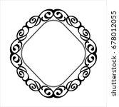decorative vintage frame ...   Shutterstock .eps vector #678012055