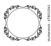 decorative vintage frame ...   Shutterstock .eps vector #678012061