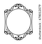 decorative vintage frame ...   Shutterstock .eps vector #678012079