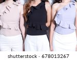 close up picture of many model... | Shutterstock . vector #678013267