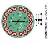 old elegant  clock  face... | Shutterstock .eps vector #678022444