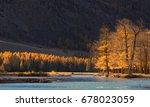 Autumn Mountain Landscape With...