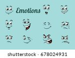 emotions characters collection... | Shutterstock .eps vector #678024931