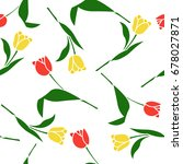 floral seamless pattern with... | Shutterstock .eps vector #678027871