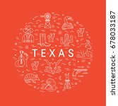 vector texas outline icons made ... | Shutterstock .eps vector #678033187