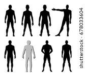 fashion man body set full... | Shutterstock . vector #678033604