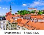 Bratislava, Slovakia. View of the Bratislava castle, St. Martin