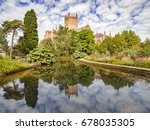 wells cathedral reflected in... | Shutterstock . vector #678035305