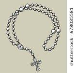 prayer beads round frame....   Shutterstock . vector #678035581