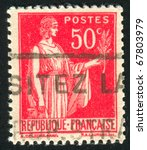 france   circa 1932  stamp... | Shutterstock . vector #67803979