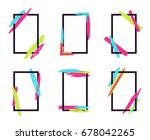 vector set of stylish dynamic... | Shutterstock .eps vector #678042265