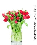 Bouquet Of Tulips In The Vase...