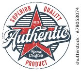 authentic superior quality... | Shutterstock .eps vector #678053074