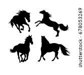 silhouettes of horses  vector | Shutterstock .eps vector #678053269