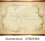 gold framed floral ornament... | Shutterstock .eps vector #67805485