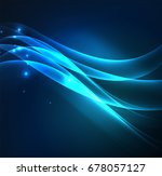 glowing geometric shapes in... | Shutterstock .eps vector #678057127