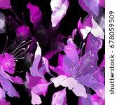 imprints wild lilies seamless... | Shutterstock . vector #678059509