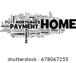 what is a down payment for a... | Shutterstock .eps vector #678067255