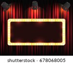 theater sign or cinema sign on... | Shutterstock .eps vector #678068005