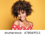 beauty portrait of young... | Shutterstock . vector #678069511