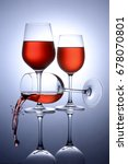 glass glass wine red... | Shutterstock . vector #678070801
