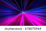 speed motion on the neon... | Shutterstock . vector #678070969