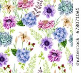 seamless watercolor background  ... | Shutterstock . vector #678071065