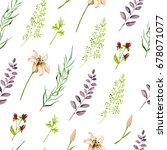 seamless watercolor background  ...   Shutterstock . vector #678071077