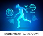 concept of science fiction...   Shutterstock .eps vector #678072994