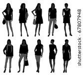 woman female girl fashion... | Shutterstock .eps vector #67807948