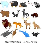 animals of north america ... | Shutterstock .eps vector #67807975