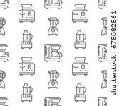 kitchen utensil  small... | Shutterstock .eps vector #678082861