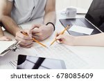 business situations. people in...   Shutterstock . vector #678085609