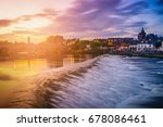 The River Nith And Old Bridge...