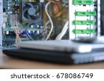 electronic devices are placed... | Shutterstock . vector #678086749