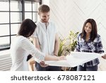 business situations. people in... | Shutterstock . vector #678087121