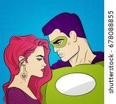comics art illustration.... | Shutterstock .eps vector #678088855